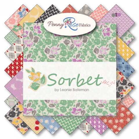 """Sorbet"" Fat Quarter Bundle 21 - 18""x 22"" cuts. by Leonie Bateman for Penny Rose Fabrics"
