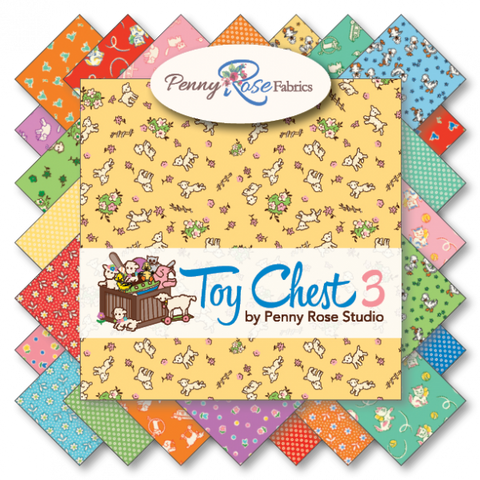 """Toy Chest 3""-Fat Quarter Bundle 30 Pcs for Penny Rose Fabrics"