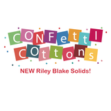 """Riley Navy""-Confetti Cottons by RBD Designers for Riley Blake Designs"