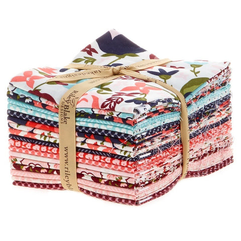 Posy Garden Fat Quarter Bundle 18 Pcs. by Carina Gardner for Riley Blake