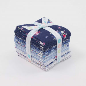 Blue Carolina Fat Quarter Bundle 21 Pcs. by Christopher Thompson, The Tattooed Quilter for Riley Blake