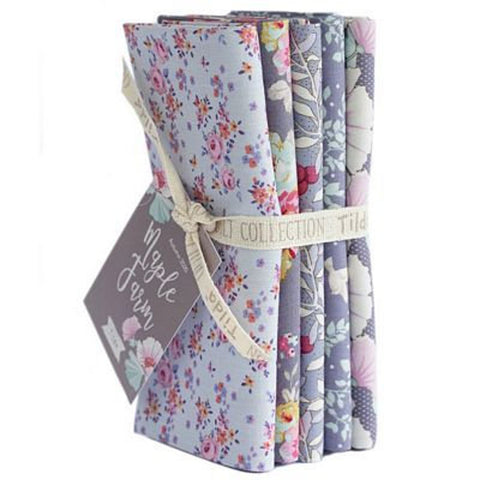 """Maple Farm & Tiny Farm""- Blueberry Slate Fat Quarter Bundle"