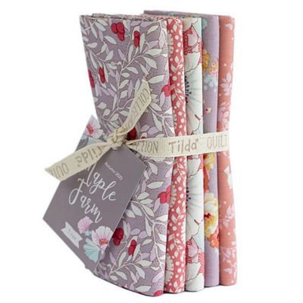 """Maple Farm & Tiny Farm""- Rosehip Mauve Fat Quarter Bundle"