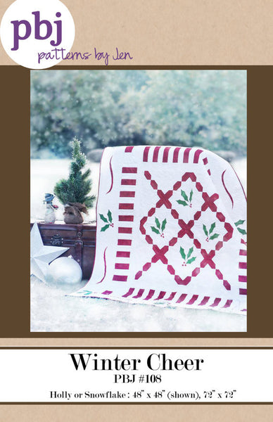 Winter Cheer Quilt Pattern by Jennifer Shaffer of Patterns by Jen