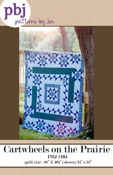 Cartwheels on the Prairie Quilt Pattern by Jennifer Shaffer of Patterns by Jen