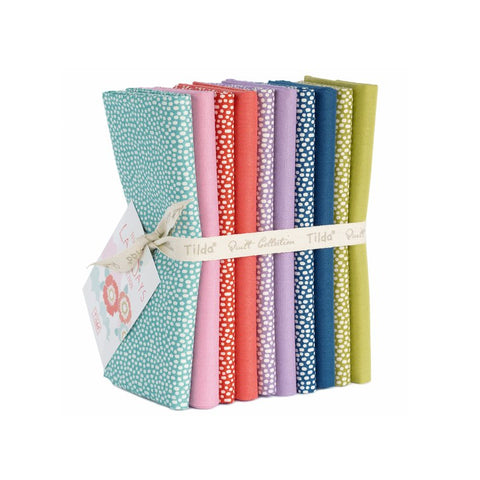"""Lazy Days""- Tilda Lazy Days Trickle and Solid Fat Quarter Bundle"