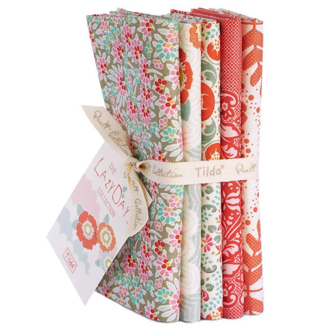 """Lazy Days""- Tilda Lazy Days Coral Fat Quarter Bundle"