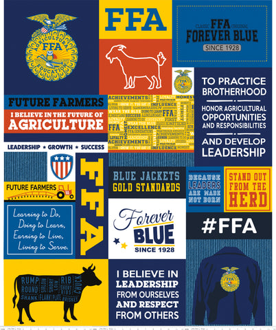 """FFA Forever Blue""-FFA Panel Blue for Riley Blake"