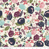 """Posy Garden""Posy Main Cream by Carina Gardner for Riley Blake"