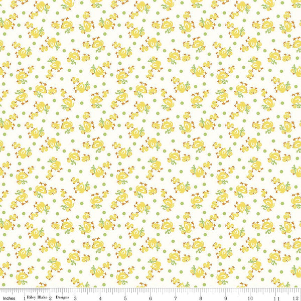 """Toy Duck Yellow""-Toy Chest 2 for Penny Rose Fabrics"