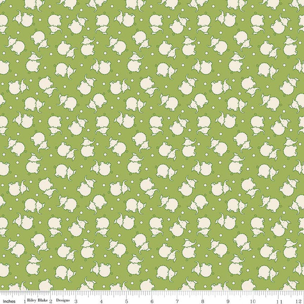"""Toy Chest 2""-Toy Elephant Green for Penny Rose Fabrics"