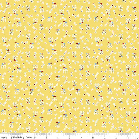 """Toy Chest 2""-Toy Floral Yellow for Penny Rose Fabrics"
