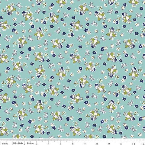 """Toy Chest 2""-Toy Bo Peep Aqua Blue for Penny Rose Fabrics"