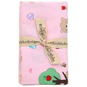 Teddy Bear's Picnic Fat Quarter 5pc Bundle Pink by Melly & Me for Riley Blake