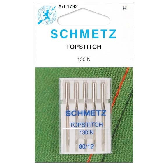 Schmetz Topstitch Needle - Size 80/12 Euro-Notions