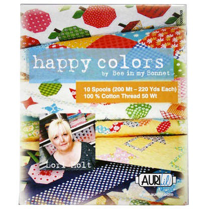 Happy Colors by Lori Holt Aurifil Thread Box of 10 Small Spools