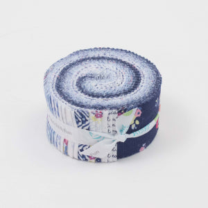 "Blue Carolina 2.5"" Rolie Polie Bundle 40 Pcs. by Christopher Thompson, The Tattooed Quilter for Riley Blake"