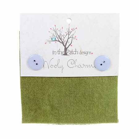 Wooly Charms 5in x 5in Moss 5ct