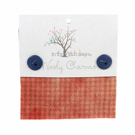 Wooly Charms 5in x 5in Candied Peach 5ct