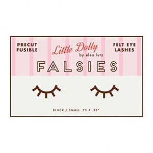 """Falsies""-Little Dolly Precut Fusible Felt Eye Lashes by Elea Lutz"