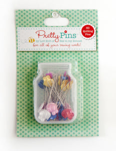 Pretty Pins by Lori Holt of Bee in My Bonnet 60 Quilting PINS 10 ASSORTED COLORS