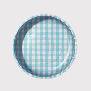 Pleasant Home's Magnetic Pin Bowl Aqua Gingham