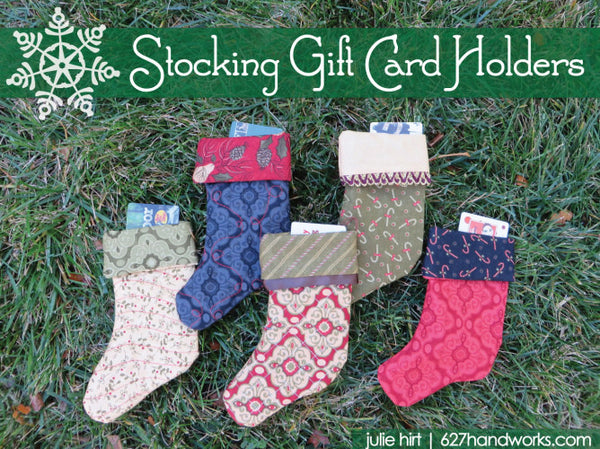 Stocking Gift Card Holders Kit by Julie Hirt of 627handworks.com
