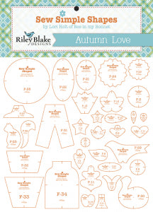 Autumn Love Sew Simple Shapes Templates
