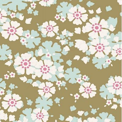 """Woodland""-Aster Olive by Tone Finnanger for Tilda"