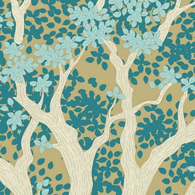 """Woodland""-Juniper Teal by Tone Finnanger for Tilda"