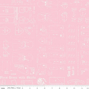 """Bee Backings and Borders""-Backings Pattern Pink"
