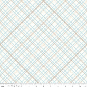 """Bee Backings and Borders""-Backings Plaid Aqua"