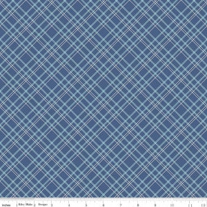 """Bee Backings and Borders""-Backings Plaid Blue"