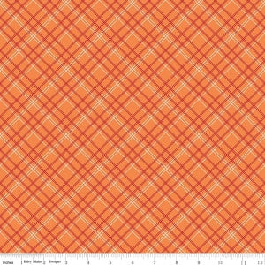 """Bee Backings and Borders""-Backings Plaid Orange"