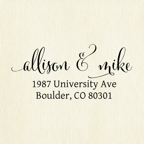 "Custom Self-Inking Address Stamp - ""Allison & Mike"""