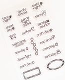 Twenty LITTLE Best of Times PLANNER Stamps Clear Sheet Cling Set