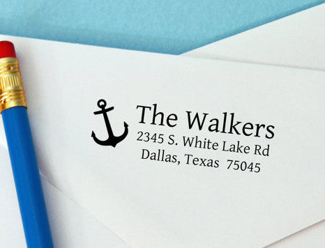 "Custom Address Stamp ""The Walkers"""