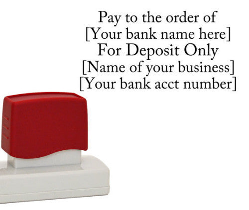 "Business Bank Stamp ""For Deposit Only"""