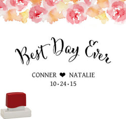 "Wedding Hang Tag Stamp ""Best Day Ever"""