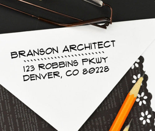 "Custom Business Return Address Stamp ""Branson"""