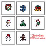 Coasters - Holiday themed Coasters - choose your graphic, sold individually, black wood