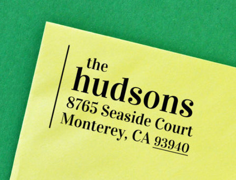 "Personalized Self-Inking Address Stamp ""the hudsons"""