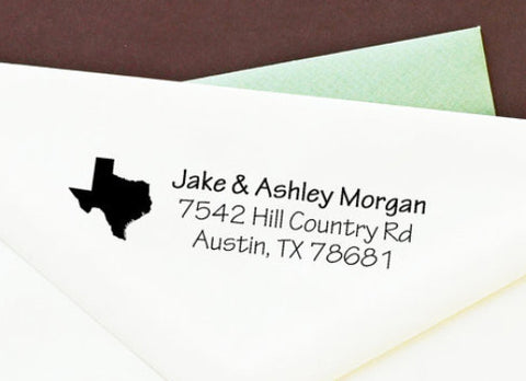 "Self-Inking Custom Return Address Stamp ""State"""