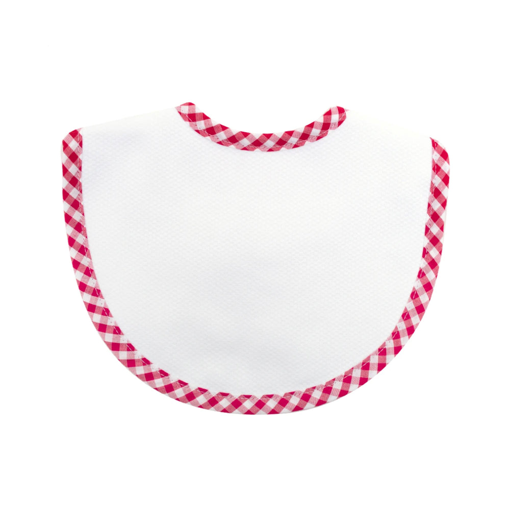 Red Gingham Bib