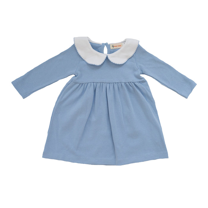 Sky Blue Long Sleeve Knit Dress
