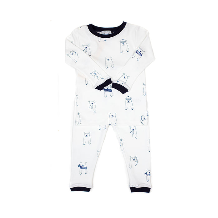 Bear Two-Piece Pima Cotton Pajamas