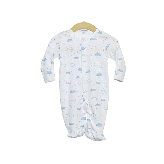 Pima Cotton Blue Cloud Footie