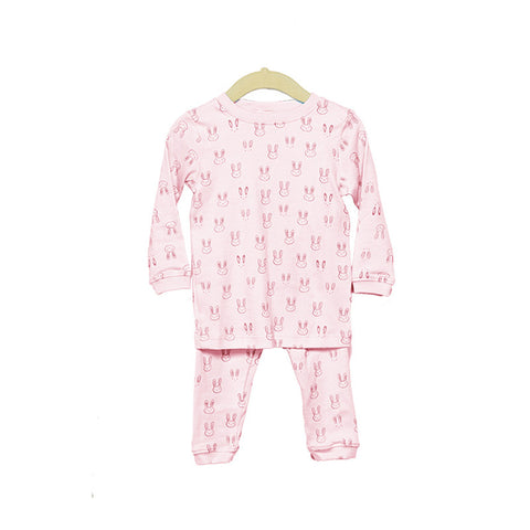 Pima Cotton Pink Bunny Pajama Set