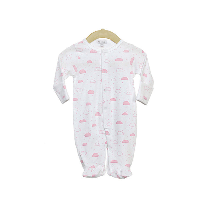 Pima Cotton Pink Cloud Footie
