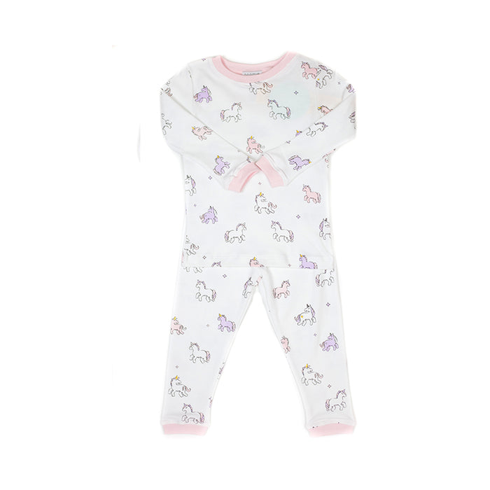 Unicorn Two-Piece Pima Cotton Pajamas